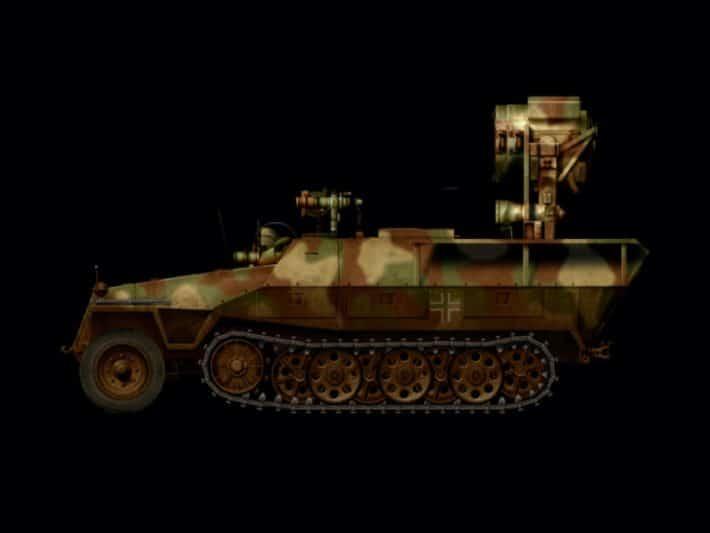 Прибор ночного видения Uhu на полугусеничном транспортном средстве Sd.Kfz.251